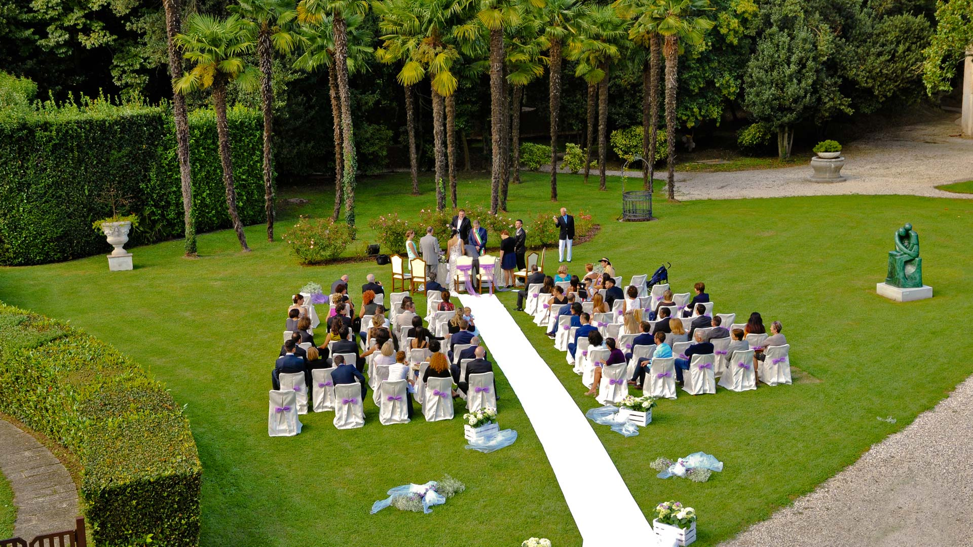 Gallery hotel villa condulmer for Allestimento giardino matrimonio